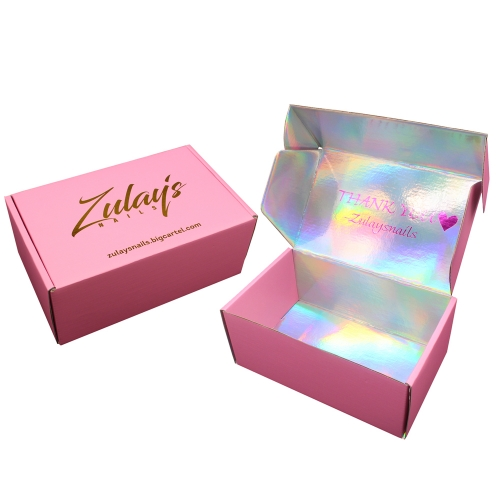 Custom Rigid Glitter Paper Cosmetic Packaging Boxes Holographic Makeup Paper Box