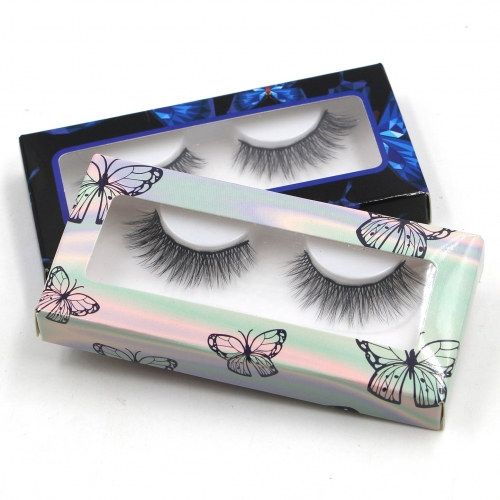 Butterfly Print With PVC Window Custom Eyelash Packaging Paper Box
