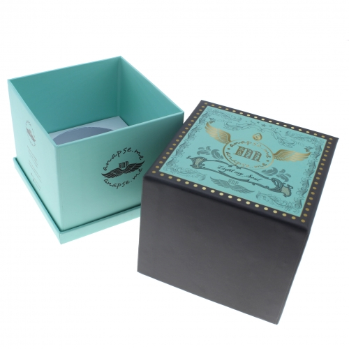 High end skin care package 3 layers cardboard logo jewelry box design custom personalized lid and base box