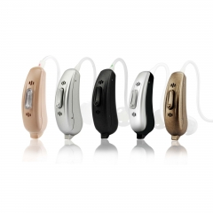 Wireless app control 4 channels open fit Bluetooth sound amplifier hearing aids with dual microphone