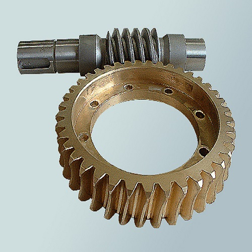 Worm gear and worm shaft