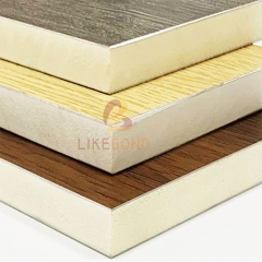 Indentation of composite sandwich panels with aluminum foam board