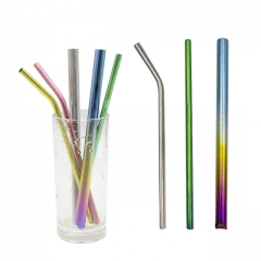 Reusable Metal Straws Ultralight Titanium Drinking Straws