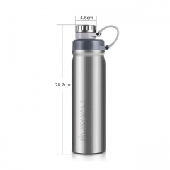 Titanium Water Bottle Outdoor Leak-Proof Kettle for Hiking Climbing Running
