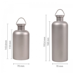 Titanium Outdoor Camping Hiking Sports Water Bottle