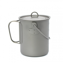 Titanium Pot with Handle Cookware for Backpacking Camping