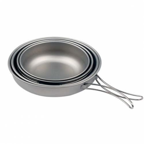 Titanium Ultralight Pot Set for Outdoor Camping Travel Picnic