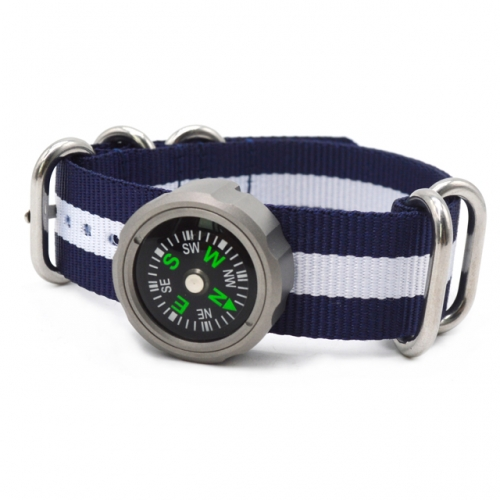 Multifunction Mountain Hiking Compass Personalized Survival Watchband Titanium Compass
