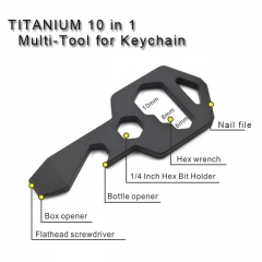 Titanium 8 in 1 Multi-Tool for Keychain