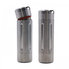Outdoor Titanium Waterproof Pill Fob Match Case Battery Capsule Tube Holder Dry Box Medicine Storage Container