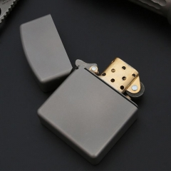 Fashionable customized black color titanium metal cigarette cigar lighter