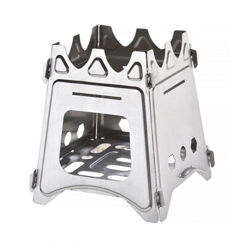 Camping Hiking And Bike Travel Stove Mini Portable Foldable Titanium Stove For Backpacking