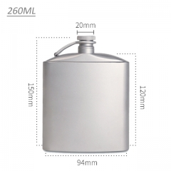 Titanium Flask Wine Hip Flagon Ultralight Hydration Flat Bottle