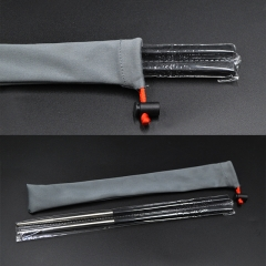 Food Grade 243mm Non-slip Reusable Titanium Chopsticks With Carbon Fiber Handles And Titanium Bodies