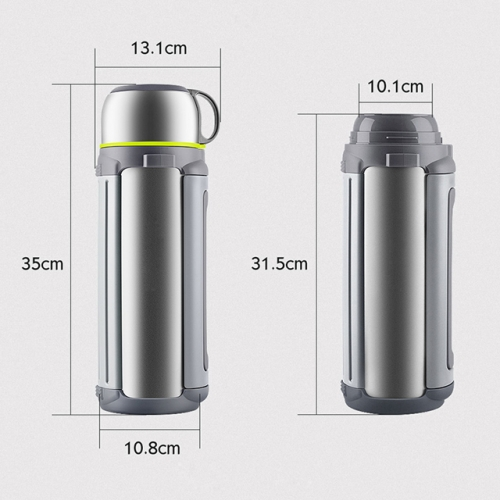 1800ml Double Wall Vacuum Kettle Custom Printed Logo Large Capacity Thermos Travel Titanium Water Bottles