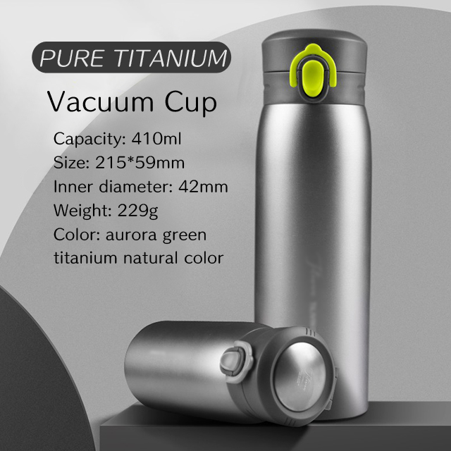 Thermos Titanium Direct Drink Double Wall Sport Bottle (Pure Titanium)