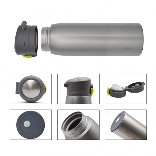 310ml Titanium Vacuum Bottle With Bouncing Caps