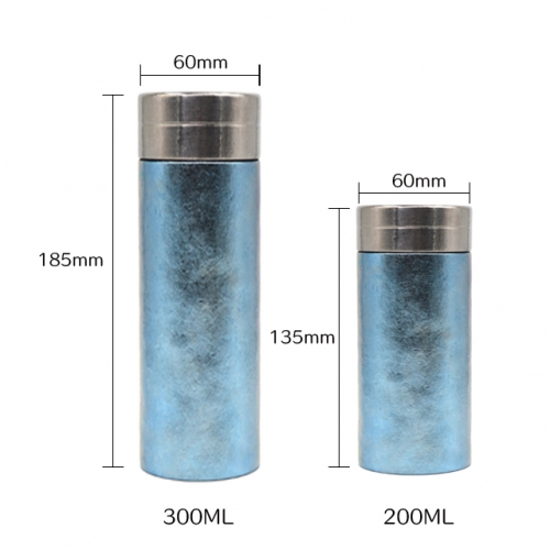 Wholesale Vuccum Flask Thermos Business Bottle 200ml Pure Titanium Diamond Surface Water Bottle