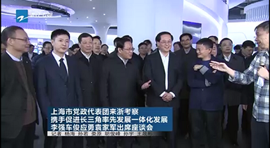 Shanghai CPC Party and Government Delegation inspect Yunxi Town in Hangzhou