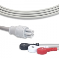 Fixed-Snap One piece ECG cables-Colin