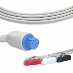Fixed-Pinch One piece ECG cables-Artema-S/W