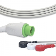 Fixed-Snap One piece ECG cables-Mennen