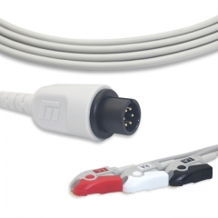 Fixed-Pinch One piece ECG cables-MEK