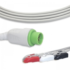 Fixed-Pinch One piece ECG cables-Mennen