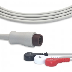 Fixed-Snap One piece ECG cables-Biolight