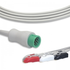 Fixed-Pinch One piece ECG cables-Biolight