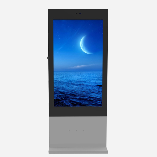 55'' Outdoor Ultra Thin Floor Standing Kiosk
