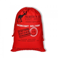 X'mas gift bag, cotton drawstring bag