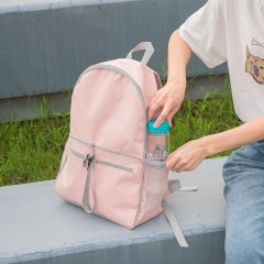 Foldable backpack school bag shoulder bag