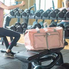 Foldable gym bag