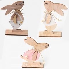 Wooden easter rabbit decoration for kids