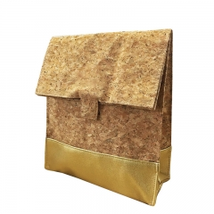 Foldable lunch bag cork and PU