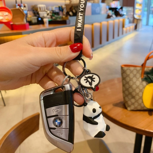 PVC cute animals keychain with logo
