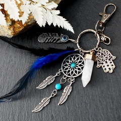metal keychain, dream cartcher keychain