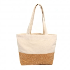 Canvas and cork shopping bags, canvas tote bags,reusable bags,shopper bags