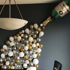 Champagne balloons sets for party