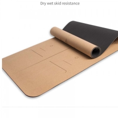 YOGA MAT MADE OF CORK AND TPE
