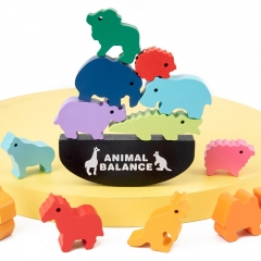 Animals balances stone wooden children toys