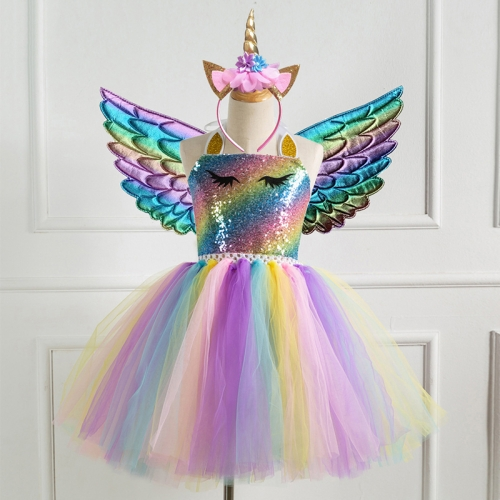 Rainbow tutu dress for kids party decoration