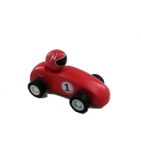 Pull back wooden racing car