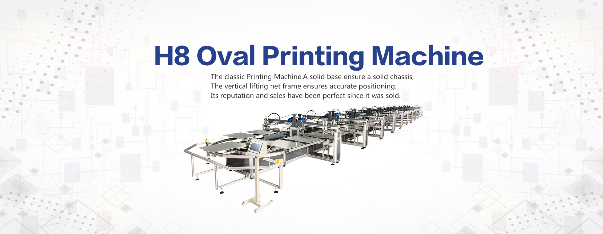 H8 Series Frequency conversion oval printing machine