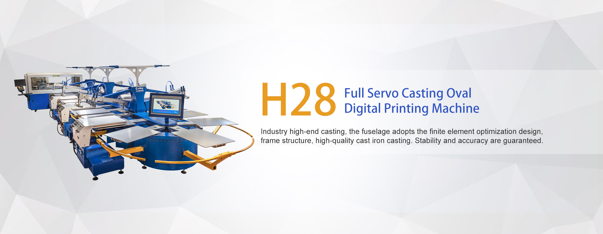 H28 Full Servo Casting Oval + Digital Printing Machine