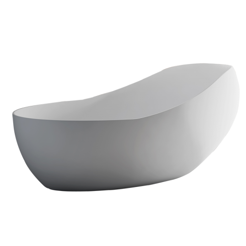 Top Rated White Oval Freestanding Acrylic Bathtub TW-7662