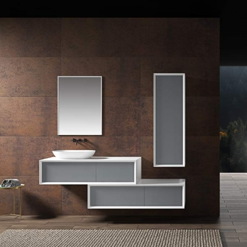 Single Counter Top Sink Wall Mounted Hanging Bathroom Vanity Cabinet WBL-2219