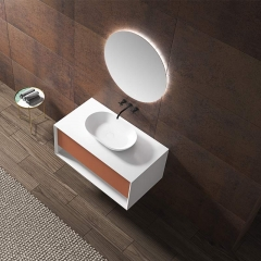 Single Counter Top Sink Wall Mounted Hanging Bathroom Vanity Cabinet WBL-2200
