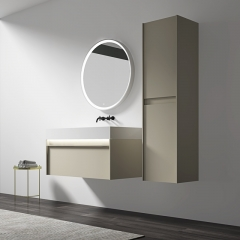 Single Counter Top Sink Wall Mounted Hanging Bathroom Vanity Cabinet WBL-0319